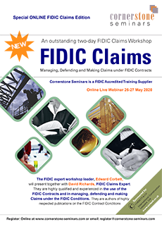 FIDIC Claims Webinar brochure front